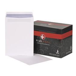Plus Fabric Envelopes Pocket Press Seal 120gsm C4 White - Pack 250