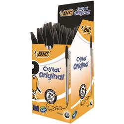 Bic Cristal Ballpoint Pen Medium Black (50 Pack) Ref 837363