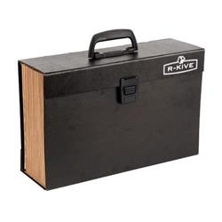 Bankers Box by Fellowes Handifile Expanding Organiser Briefcase Black Ref 9351501