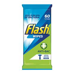 Flash Strong Weave Antibacterial Cleaning Wipes (60 Pack) 5413149937185