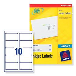 Avery J8173 White Inkjet Address Labels 99.1x57mm Ref J8173-100 - 100 Sheets