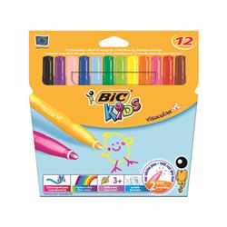 Bic Kids Assorted Visa XL Felt Pens (12 Pack) 829007