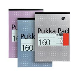 Pukka Pad Refill Pad Headbound Ruled with Margin Punched 80gsm 160pp A4 White Ref REF80/1 - Pack 6