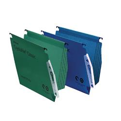 Rexel CrystalFile Classic 15mm Lateral File Manilla 150 Sheet Green (50 Pack) 78652