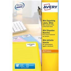 Avery L7656 35mm Film/Small Items Laser Media Labels 46x11mm 84-label sheets Ref L7656-25 - 25 sheets
