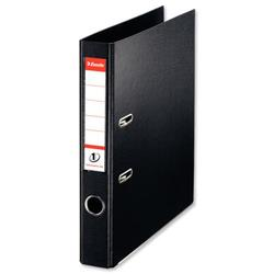 Esselte No. 1 Power Mini Lever Arch File PP Slotted 50mm Spine A4 Black Ref 811470 [Pack 10]