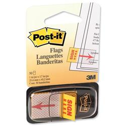 Post it Sign Here Index Pack of 50 W25mm Ref 680-9