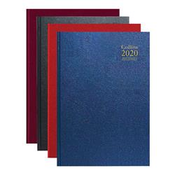 Collins Desk Diary A4 Day Per Page Appointments 2020 Assorted A4 - Single Diary