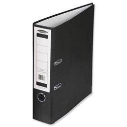 Concord Classic Lever Arch File Printed Lining Capacity 70mm A4 Black Ref C214046 - Pack 10