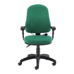Calypso Ergo Chair With T Adjustable Arms - Green Ref CH2810GN+AC1040