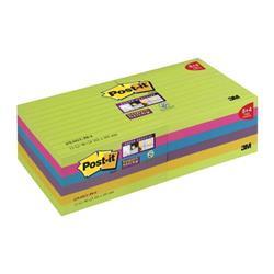 Post-it Super Stick XL Rainbow100x100 XL Ref 675-SSUC-P8&4 [Pack 8 + 4 Free]