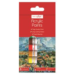 Work of Art Hard-Wearing Acrylic Paint Tubes Assorted (12 Pack) TAL06742