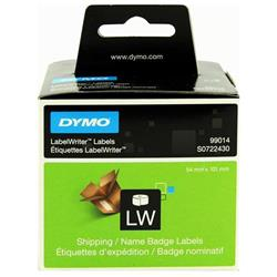 Dymo Labelwriter Shipping Address/Name Badge Labels 54x101mm White Ref 99014 S0722430  [Pack 220]
