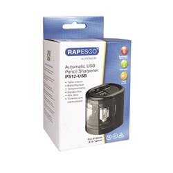 Rapesco USB Electric Pencil Sharpener Black 1449