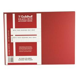 Exacompta Guildhall 298x405mm Headliner Book 80 Pages 68/42 1449