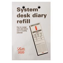 Letts System Desk Refill 2020 20-TSDR