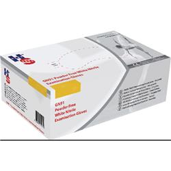 Handsafe Nitrile Powder Free Examination Medium Gloves White (2000 Pack) HEA01301