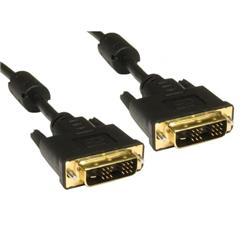 Cables Direct 77DVSING-2M DVI cable 1.8 m DVI-D Black