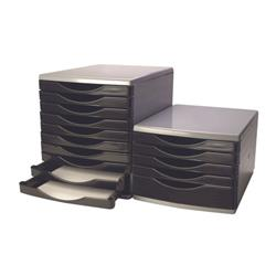 Q-Connect 5 Drawer Tower Black and Grey Ref KF02253