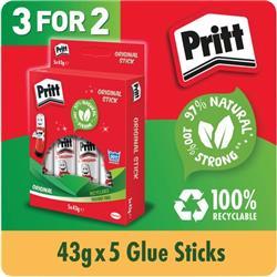Pritt Stick 43g Hanging Box (5 Pack x 3) HK810849