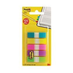 Post-it Portable Small Index 12mm Assorted (100 Pack) 683-5CBINDEX