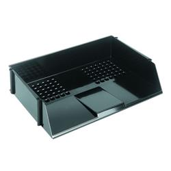 Q-Connect Wide Entry Letter Tray Black Ref KF21688