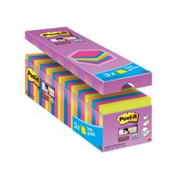 Post-it Super Sticky Notes Value Pack Pad 90 Sheets 76x76mm Assorted Ref 654-SS-VP24COL-EU - Pack 24