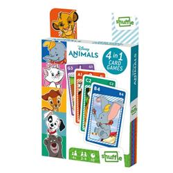 Shuffle Disney Animals 4-in-1 Card Game (Pack of 12) 108549998