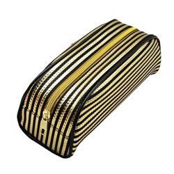 Metallic Striped Pencil Case Gold/Purple (Pack of 12) 302376