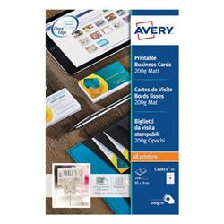 Avery Matte White Multipurpose Business Cards 85 x 54mm (250 Pack) C32011-25