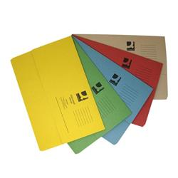 Q-Connect Document Wallets Foolscap Assorted (Pack of 50) Ref KF01490