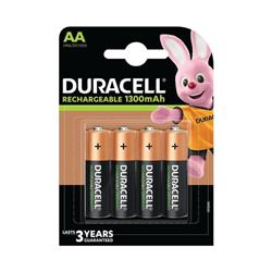 Duracell Rechargeable AA NiMH 1300mAh Batteries (4 Pack) 81367177