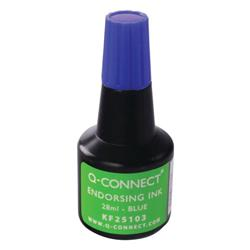 Q-Connect Endorsing Ink 28ml Blue (Pack of 10) Ref KF25103Q