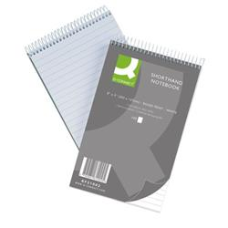 Q-Connect Feint Ruled Shorthand Notebook 300 Pages 203x127mm (Pack of 10) Ref KF31002