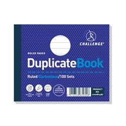 Challenge Duplicate Book Carbonless Ruled 100 Sets 105x130mm Ref 100080487 - Pack 5