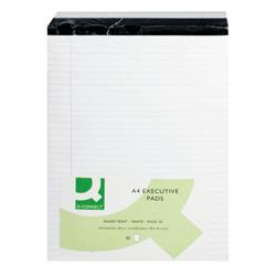 Q-Connect Ruled Stitch Bound Executive Pad 50 Pages A4 White (Pack of 10) Ref KF01386