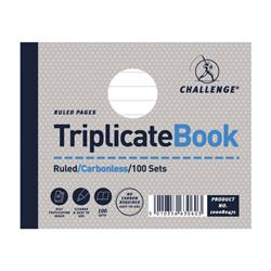 Challenge Triplicate Book Carbonless Ruled 100 Sets 105x130mm Ref 100080471 - Pack 5