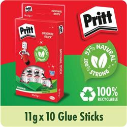 Pritt Stick Glue Solid Washable Non-toxic Standard 11g Ref 1456040 - Pack 10