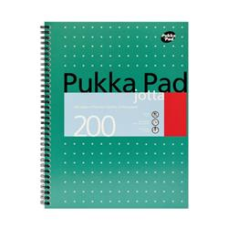 Pukka Pad Jotta Notebook Wirebound Perforated Ruled 4-Hole 80gsm 200pp A4+ Metallic Ref JM018 - Pack 3
