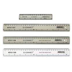 Q-Connect Clear 150mm/15cm/6inch Ruler Ref KF01106
