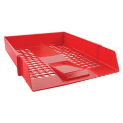 Q-Connect Letter Tray Red CP159KFRED Ref KF10055