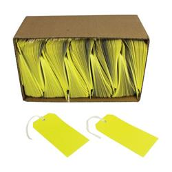 Tag Labels Strung Bulk Boxes Canary Yellow (Pack 1000)