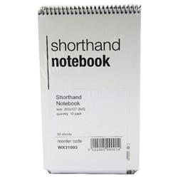 Spiral Shorthand Notebook 80 Leaf (10 Pack) WX31003