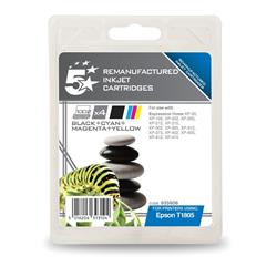 5 Star Office Remanufactured Inkjet Cartridges Capacity 15.1ml [Epson C13T18064010 Alternative] [Pack 4]