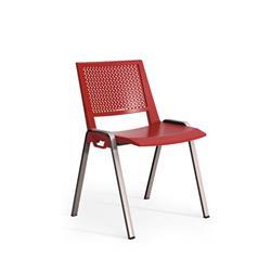 Sedia attesa Kentra Unisit - acciaio nero - rosso - KEV/RO