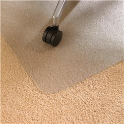 Floortex Chair Mat Rectangular for Carpet Protection Polycarbonate 1200x1500mm Clear