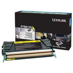 Lexmark X746/X748 Return Programme Toner Cartridge Yellow Ref X746A1YG