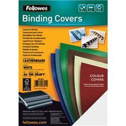 Copertine in cartoncino per rilegatura Fellowes - A4 - goffrato - 250 my - nero - 5370405 - conf. 100