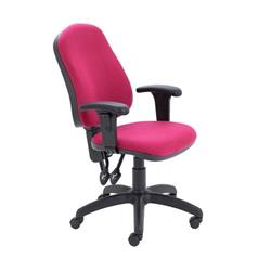 Calypso II High Back Chair with Adjustable Arms - Claret Ref CH2800CL+AC1040