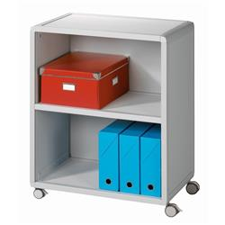 Fast Paper Mobile 2 Compartment Bookcase Grey - FDM2K202